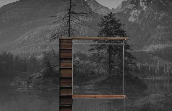 Garderobe 182085 aus Schwarzstahl