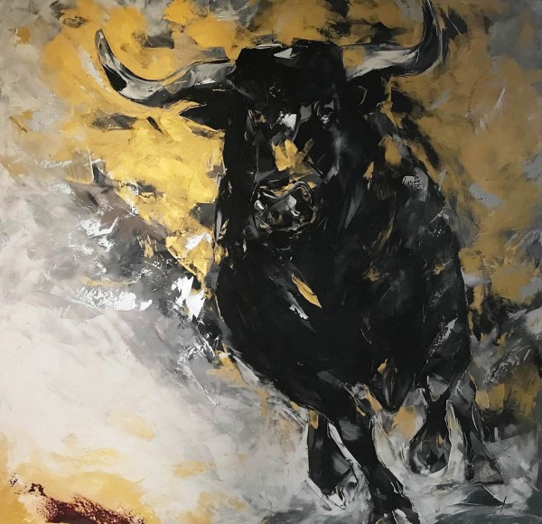 """Ölgemälde """"Tierreich"""" von Andrea Zimmermann"""