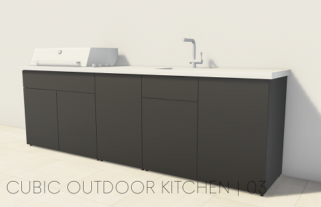 CUBIC OUTDOOR KITCHEN 03 - Wandlösung