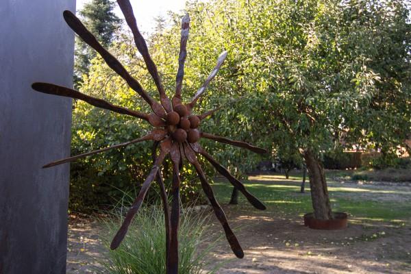 Gartenskulptur aus Rohstahl für den Garten von ums Metall