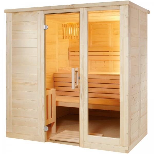 Sentiotec Harvia Komfort Massivholzsauna Indoor Saunakabine