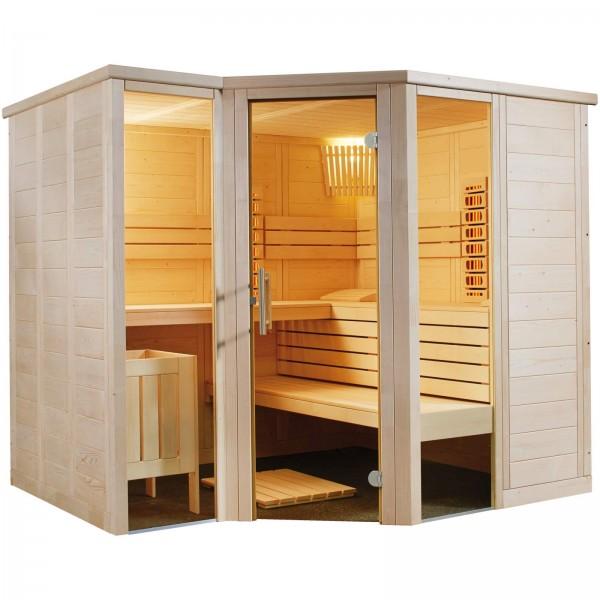 Sentiotec Harvia Arktis Infra+ Massivholzsauna Indoor Saunakabine