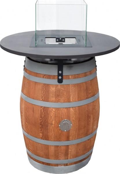 Fire Barrel inkl. Tischplatte & Glasaufsatz